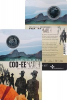 Изображение Подарочные монеты Австралия 20 центов 2015 Медно-никель UNC Марш Coo-EE. Марш в