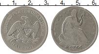 Изображение Монеты США 1/2 доллара 1854 Серебро VF