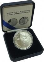 Изображение Подарочные монеты Финляндия 100 марок 2000 Серебро Proof