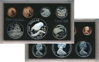 Изображение Подарочные монеты Новая Зеландия Выпуск 1984 года 1984  Proof