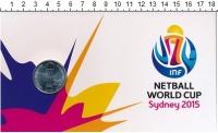 Изображение Подарочные монеты Австралия 20 центов 2015 Медно-никель UNC Монета номиналом 20