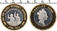 Изображение Монеты Токелау 5 тала 2000 Серебро Proof