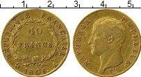 Изображение Монеты Франция 40 франков 1806 Золото XF