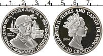 Изображение Монеты Великобритания Теркc и Кайкос 20 крон 1994 Серебро Proof