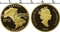 Изображение Монеты Северная Америка Канада 100 долларов 1992 Золото Proof