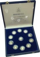 Изображение Подарочные монеты Бермудские острова 375-я годовщина поселения 1984 Серебро Proof