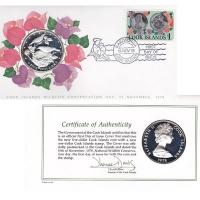 Изображение Подарочные монеты Острова Кука Сохранение животного мира, Птицы 1978 Серебро Proof