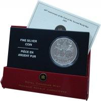 Изображение Подарочные монеты Канада 5 долларов 2005 Серебро UNC