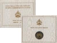Изображение Подарочные монеты Ватикан Седе Ваканте 2013 2013 Биметалл UNC Монета посвящена Сед