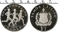 Изображение Монеты Самоа 1 доллар 1978 Серебро Proof Игры содружества, бе