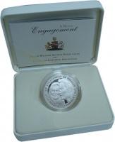 Изображение Подарочные монеты Олдерни Свадьба принца Вильяма 2010 Серебро Proof-