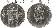 Изображение Монеты Чехословакия 100 крон 1987 Серебро UNC- 25-летие Горной Акад