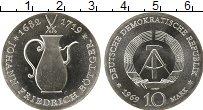 Изображение Монеты ГДР 10 марок 1969 Серебро UNC-