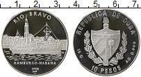 Изображение Монеты Куба 10 песо 1998 Серебро Proof