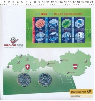 Изображение Подарочные монеты Австрия Футбол 2008 Серебро UNC