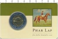 Изображение Подарочные монеты Австралия Фар Лэп 2000 Биметалл UNC