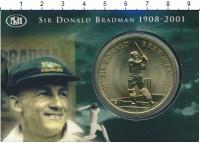 Изображение Подарочные монеты Австралия 5 долларов 2001 Латунь UNC