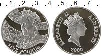 Изображение Монеты Великобритания Олдерни 5 фунтов 2000 Серебро Proof-