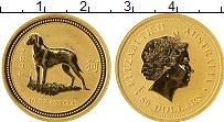 Изображение Монеты Австралия 50 долларов 2006 Золото UNC- Год собаки. 0,5 Oz.