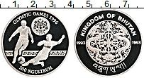 Изображение Монеты Бутан 300 нгултрум 1993 Серебро Proof Олимпиада 96.  Футбо