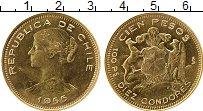 Изображение Монеты Южная Америка Чили 100 песо 1955 Золото UNC