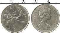 Изображение Монеты Северная Америка Канада 25 центов 1968 Серебро XF-