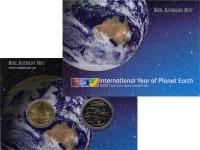 Изображение Подарочные монеты Австралия Международный год планеты Земля 2008  UNC