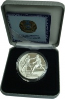 Изображение Подарочные монеты Казахстан 100 тенге 2013 Серебро Proof Алматы`2013. Чемпион