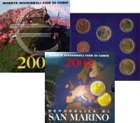 Изображение Подарочные монеты Сан-Марино Регулярный выпуск 2002 2002  UNC Евро был введён в Са