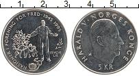 Изображение Мелочь Норвегия 5 крон 1995 Медно-никель UNC-