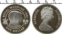 Изображение Монеты Бермудские острова 1 доллар 1981 Серебро Proof-