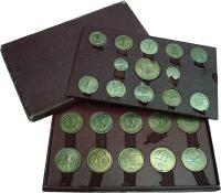 Изображение Подарочные монеты Камерун Набор пробных монет Французских колоний и заморских территорий 0 Медно-никель UNC
