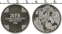 Изображение Монеты Европа Швейцария 20 франков 1996 Серебро Proof-