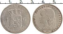 Изображение Монеты Нидерланды 1 гульден 1892 Серебро XF- Вильгельмина