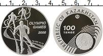 Изображение Монеты Казахстан 100 тенге 2005 Серебро Proof- Олимпиада 2006