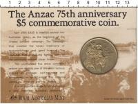 Изображение Подарочные монеты Австралия 5 долларов 1990 Латунь XF
