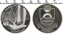 Изображение Монеты Австралия и Океания Кирибати 20 долларов 1992 Серебро Proof-