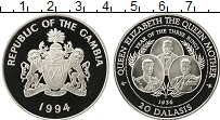 Изображение Монеты Африка Гамбия 20 даласи 1994 Серебро Proof