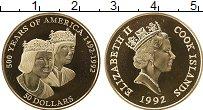 Изображение Монеты Острова Кука 50 долларов 1992 Золото Proof-