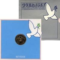 Изображение Подарочные монеты Гернси 2 фунта 1985 Медно-никель UNC