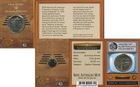 Изображение Подарочные монеты Австралия 1 доллар 2006 Латунь UNC Елизавета II. Телеви
