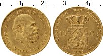 Изображение Монеты Нидерланды 10 гульденов 1877 Золото XF
