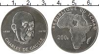 Изображение Монеты Африка Чад 200 франков 1970 Серебро UNC-