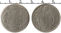 Изображение Монеты Европа Ватикан 2 карлини 1749 Серебро VF