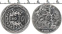 Изображение Монеты Франция 10 евро 2016 Серебро UNC Чемпионат Европы по
