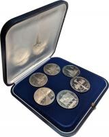 Изображение Подарочные монеты СССР Олимпиада 80 0 Медно-никель Proof- Шесть монет в оригин