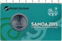 Изображение Подарочные монеты Самоа 50 сене 2015 Медно-никель UNC 5-е Юношеские игры с
