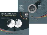 Изображение Подарочные монеты Германия 20 евро 2016 Серебро Proof 125 лет со дня рожде