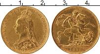 Изображение Монеты Австралия 1 соверен 1892 Золото VF+