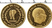 Изображение Монеты Кот-д`Ивуар 25 франков 1966 Золото Proof-